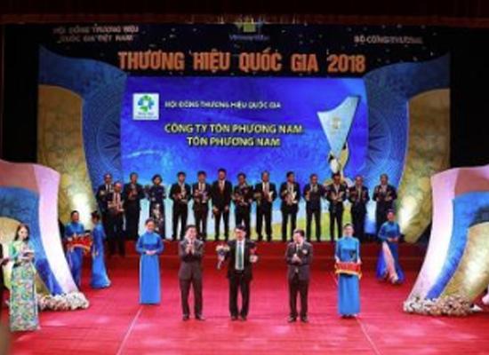 Tôn Phương Nam chinh phục đỉnh cao Thương hiệu quốc gia 2018