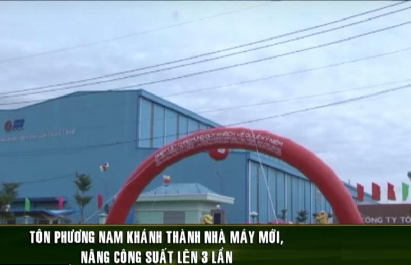 Tôn Phương Nam khánh thành nhà máy mới